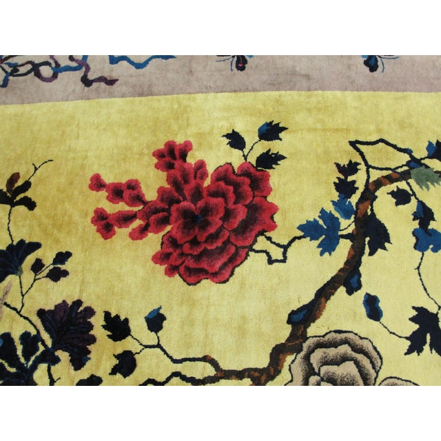 """Early 20th Century Antique Chinese Art Deco Rug-8' X 9'8"""" For Sale - Image 5 of 11"""