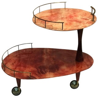 Aldo Tura Bar Cart For Sale