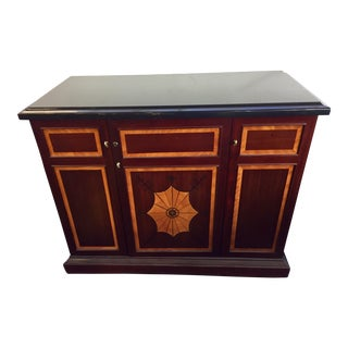 Rosewood & Black Granite Dry Bar Buffet