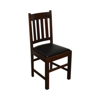 Antique Mission Oak Side Chair For Sale