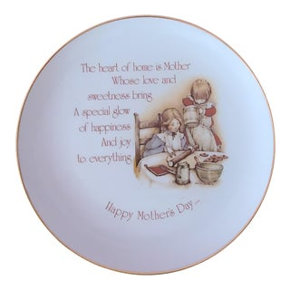 Holly Hobbie Commemorative Edition Mother's Day Porcelain Plate 1977 For Sale