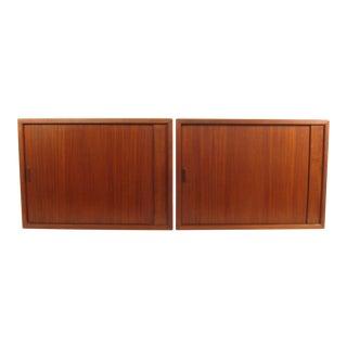 Mid-Century Tambour Door Cabinets - A Pair