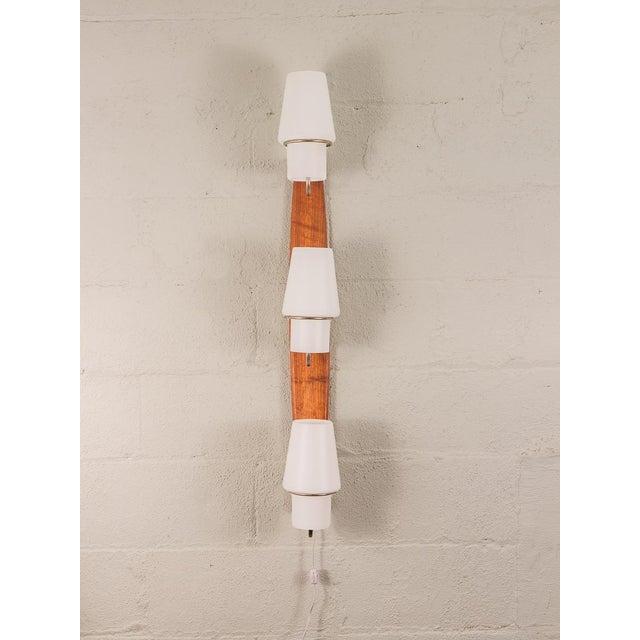 1960s Danish Modern Vertical Sconce Light For Sale - Image 5 of 10