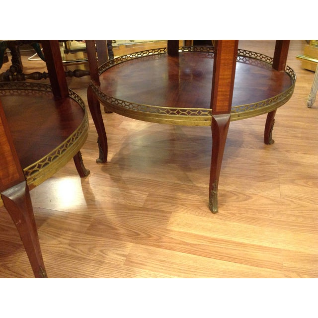 Pair of Fine French Bouillotte Tables For Sale - Image 12 of 13