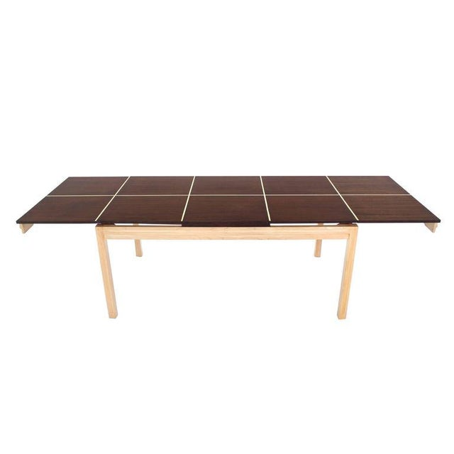 Black Tommy Parzinger Dining Table with Two Leaves For Sale - Image 8 of 9
