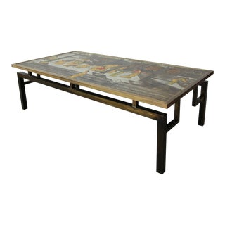 Rare Signed Bronze Chin Ying Coffee Table by Philip and Kelvin LaVerne For Sale