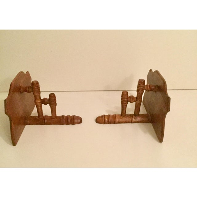 1900s 1900s Traditional Wooden Wall Shelf - a Pair For Sale - Image 5 of 7