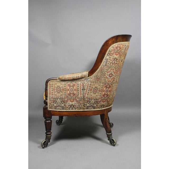 Yellow Grand William IV Rosewood Bergere Chair For Sale - Image 8 of 8