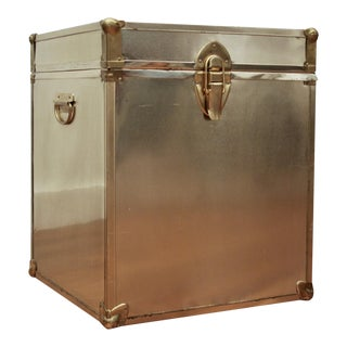 Brass Cube Trunk Table