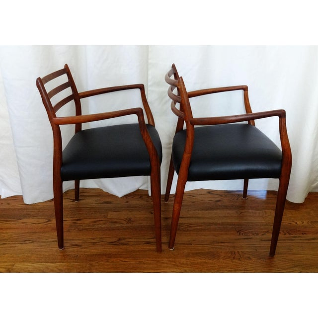 Brown Mid 20th Century Mid Century Danish Modern Armchairs by J. L. Moller - a Pair For Sale - Image 8 of 10