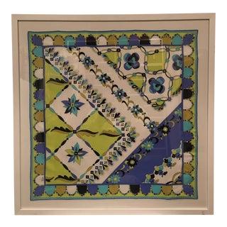 Emilio Pucci Framed Silk Scarf For Sale