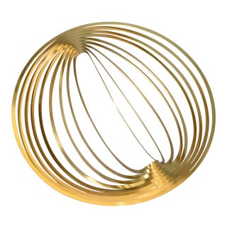 Modern Sculptural Golden Brass Rocking Bowl, Eight Mood, Sweden For Sale