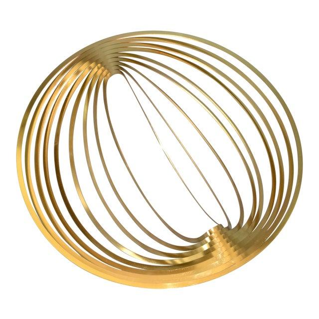 Modern Sculptural Golden Brass Rocking Bowl, Eight Mood, Sweden For Sale