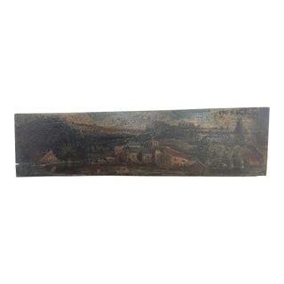 1950s Vintage French Oil Painting on Wood For Sale