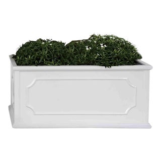 Andover Window Box, Medium, Glossy White For Sale