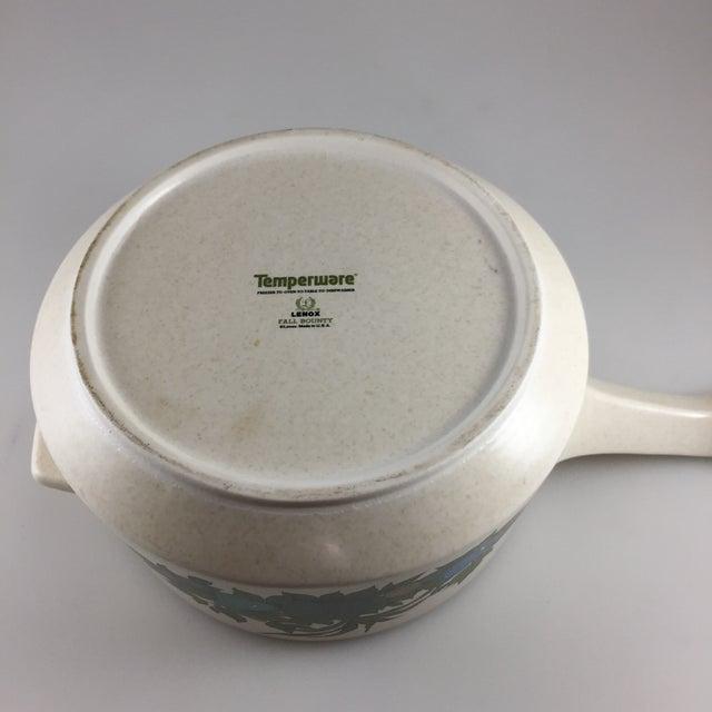 Blue Fall Bounty Stoneware Open Fondue Pot For Sale - Image 8 of 10