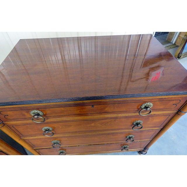 Pair of Kittinger Georgian Style Rosewood Commodes For Sale In Philadelphia - Image 6 of 11