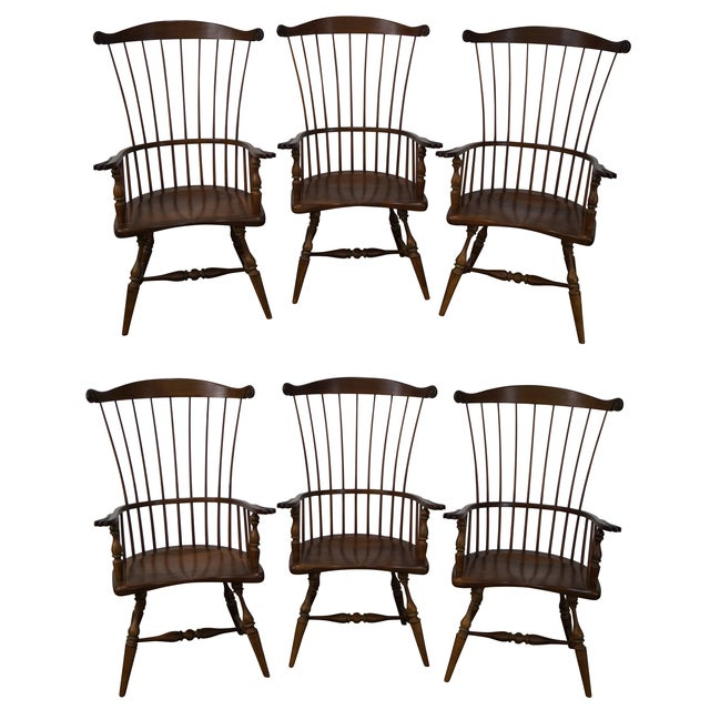 Frederick Duckloe & Bros Armchairs - Set of 6 - Image 1 of 8