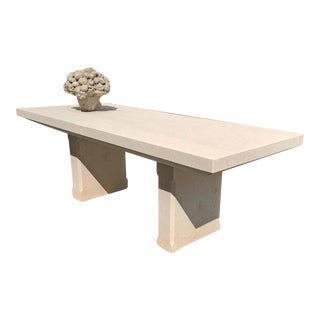 19th Century Hand-Carved Limestone Table c