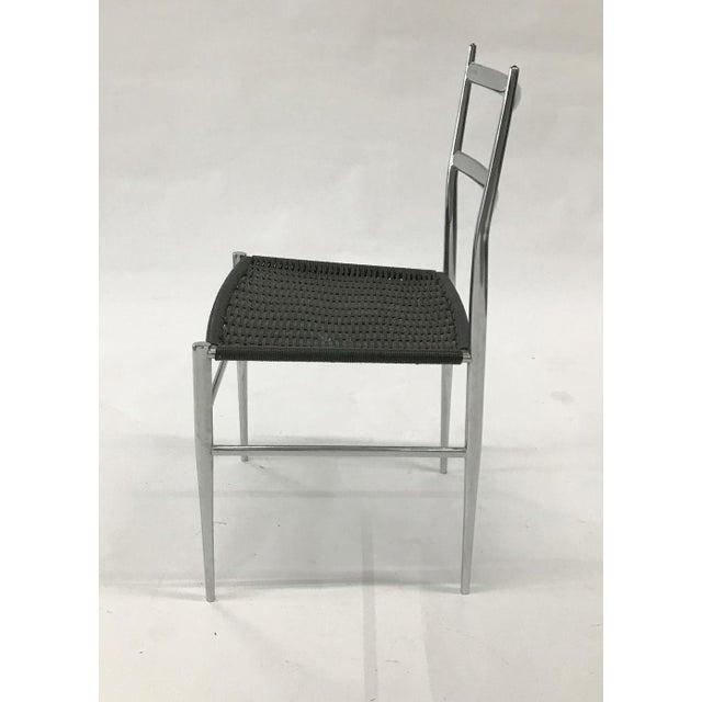 "Gio Ponti ""Leggera"" Chrome Chair by Gio Ponti, 1960s For Sale - Image 4 of 11"