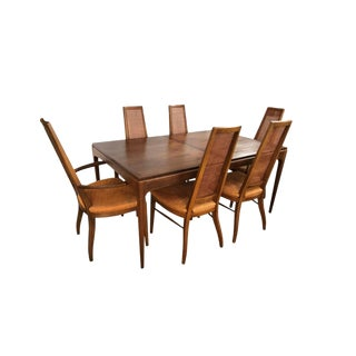 Midcentury Lane Altavista Alta Vista Dining Set Table and Six Matching Chairs For Sale