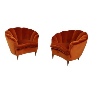 Vintage 1940s Shell Armchairs For Sale