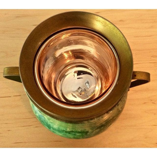 Aldo Tura Lacquered Goatskin Ice Bucket - Image 6 of 8