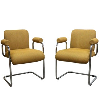 Pair of Modern Occasional Chairs by Mariani for Pace For Sale