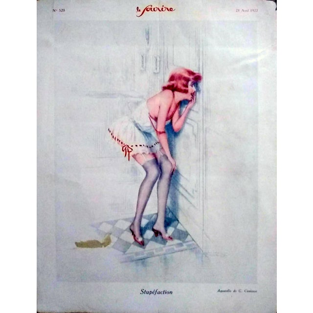 "1920s G. Cirmeuse 1927 ""Stupefaction"" Le Sourire Print For Sale - Image 5 of 5"