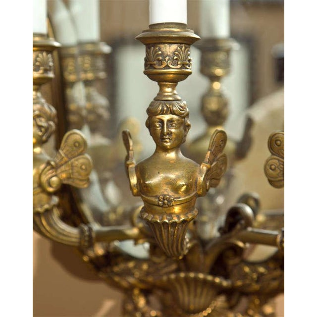Neoclassical Bronze Wall Sconces - Pair For Sale - Image 5 of 8