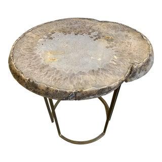 Agate Quartz Side Table For Sale