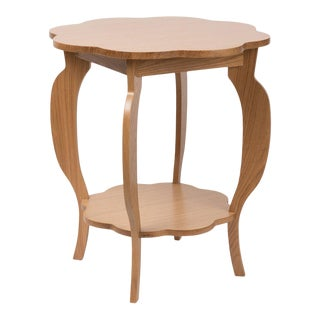 Scallop Side Table in Natural Oak For Sale