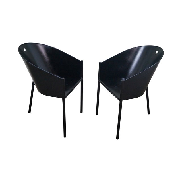 Philippe Starck Aleph Black Metal Chairs - A Pair - Image 1 of 9