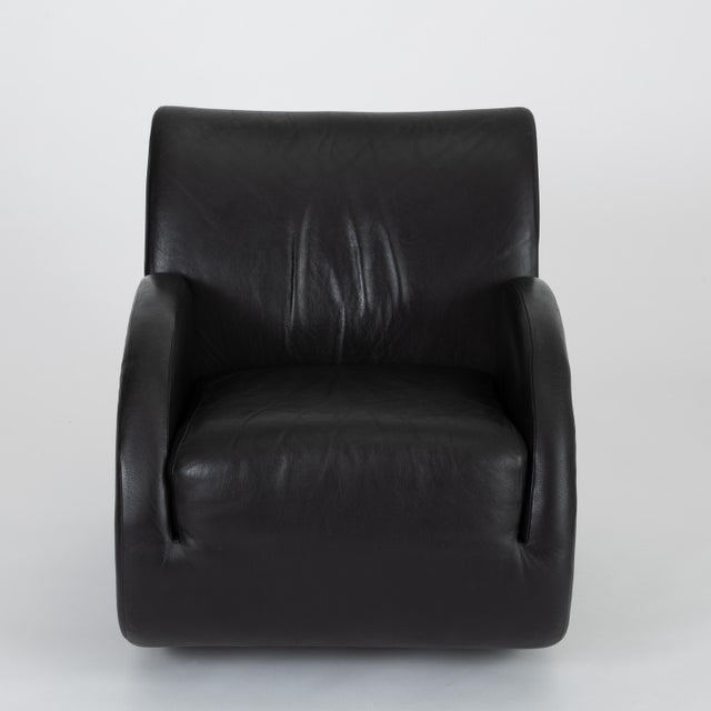 "Contemporary ""Rock Star"" Leather Rocking Chair by Vladimir Kagan for American Leather For Sale - Image 3 of 12"