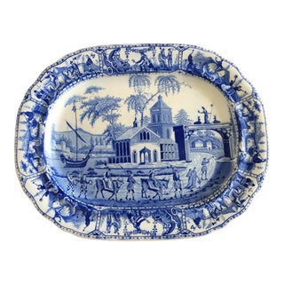 Pottery Barn Constantinople Ceramic Transferware Tray For Sale