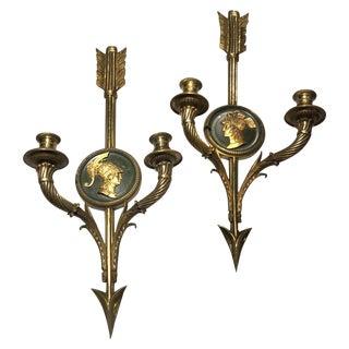 Empire Style Bronze Sconces - A Pair