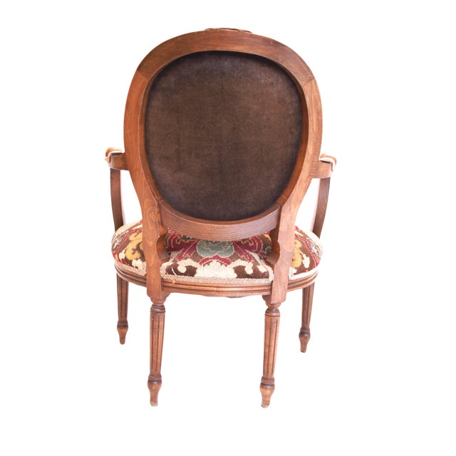 French-Style Needlepoint Armchair - Image 5 of 5