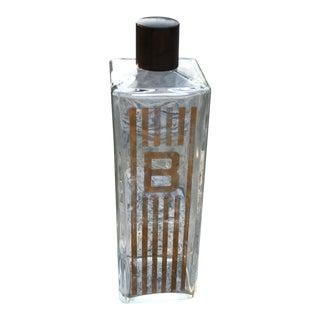 Vintage Travel Bourbon Bottle With Bakelite Cap For Sale