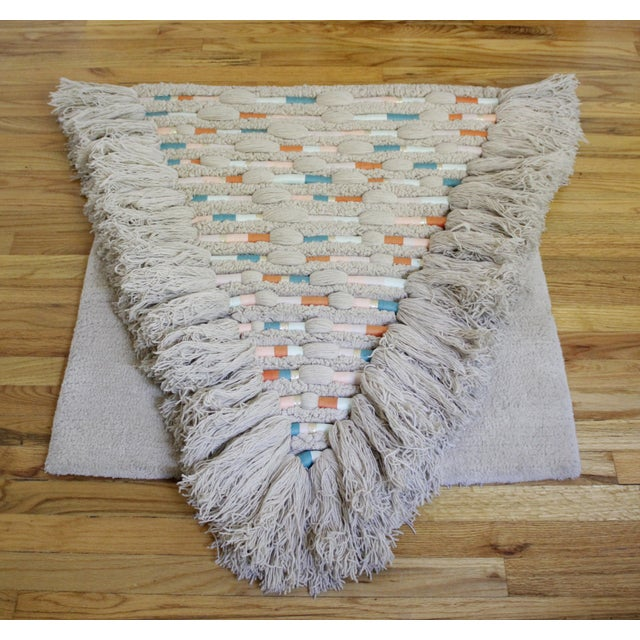 Boho Chic Vintage Bohemian Woven Fiber Art Wall Hanging For Sale - Image 3 of 7