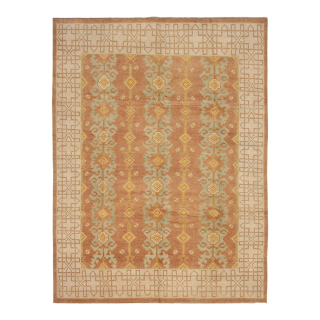 """Classic Hand-Knotted Rug, 8'6"""" X 11'1"""" For Sale"""