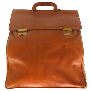 Elegant Vintage Leather Travel Bag by Mark Cross, Italy For Sale