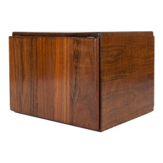 Blanket Chest or Cube Table in African Shedua by Gerald McCabe For Sale