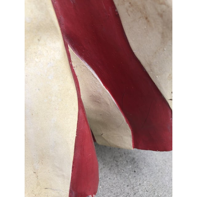 Red Monumental American Flag Draped Mirror For Sale - Image 8 of 11