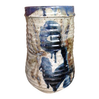 1970s Studio Pottery Floor Vase For Sale