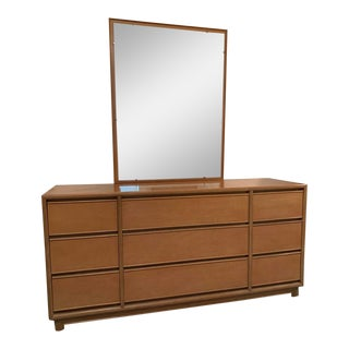Kroehler Furniture Mahogany Vintage Dresser With Beveled Mirror For Sale