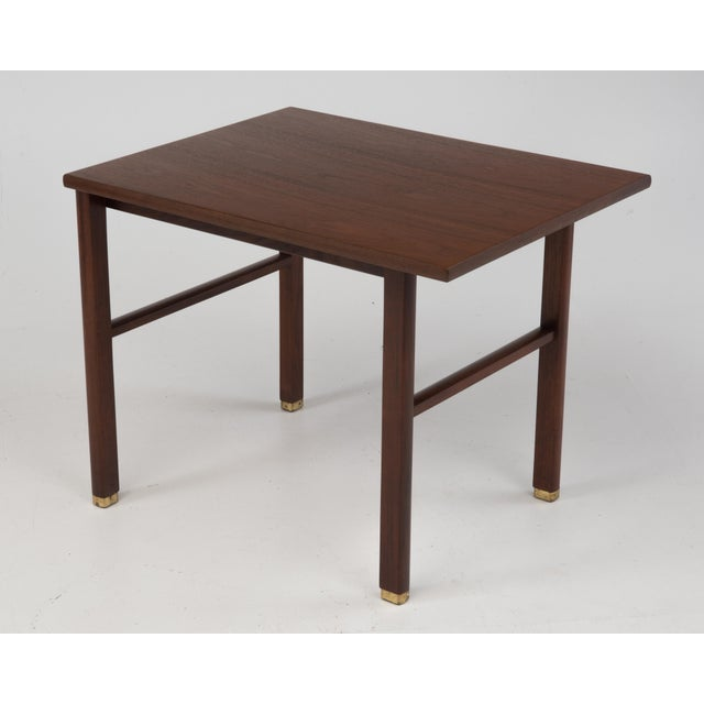 Cantilevered Dunbar Side End Table Edward Wormley 1960s Marked For Sale - Image 12 of 12