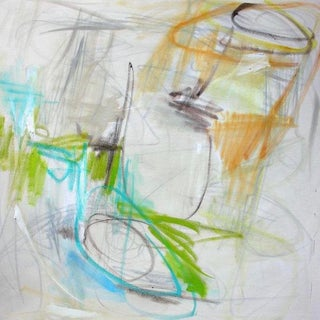 """Large Abstract Painting by Trixie Pitts """"Zebeddee Spring"""" For Sale"""
