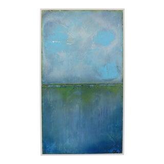 Gulf Horizon, II. Oil on Framed Panel 2018 by C. Damien Fox