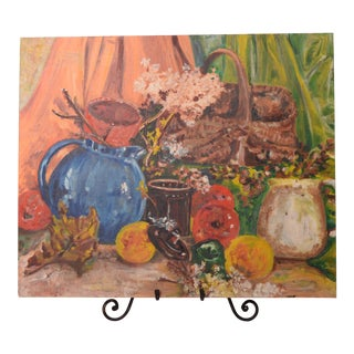 Vintage Impressionist Still Life Painting For Sale