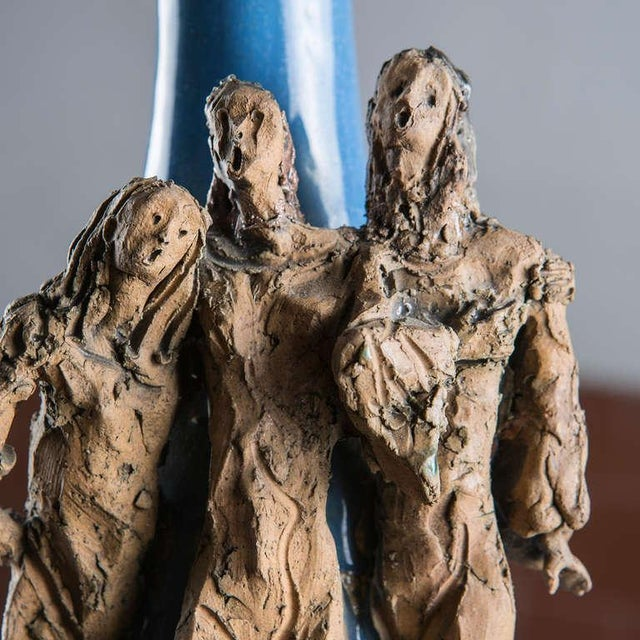 Ceramic Bottle by Renato Bassoli For Sale - Image 5 of 7